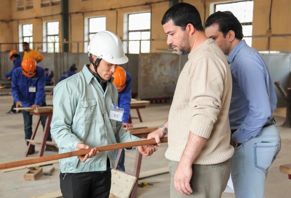 Hình ảnh thi tuyển mộc,sắt, hàn, xây trát ốp lát cho A.S.Alsayed 5