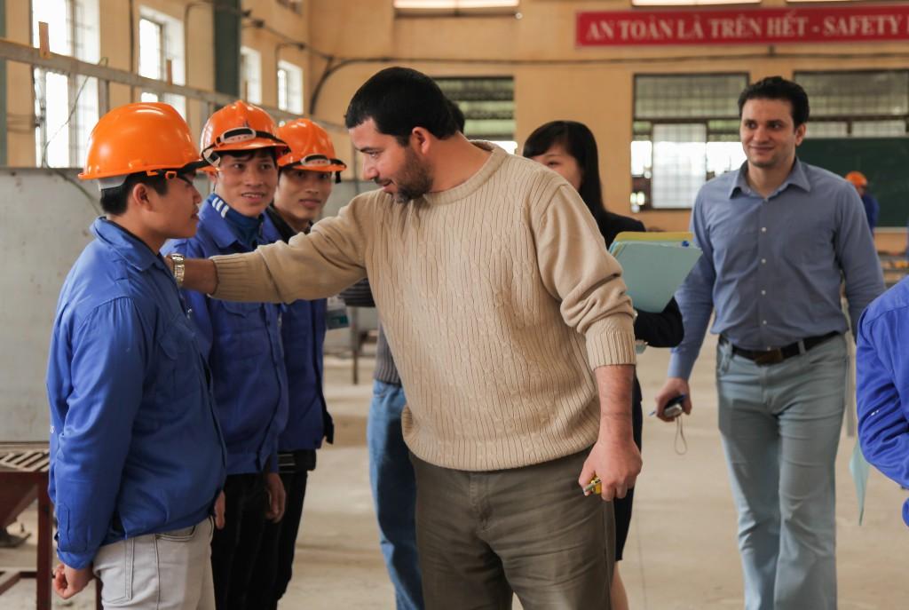 Hình ảnh thi tuyển mộc,sắt, hàn, xây trát ốp lát cho A.S.Alsayed 10