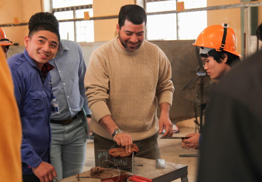 Hình ảnh thi tuyển mộc,sắt, hàn, xây trát ốp lát cho A.S.Alsayed 12