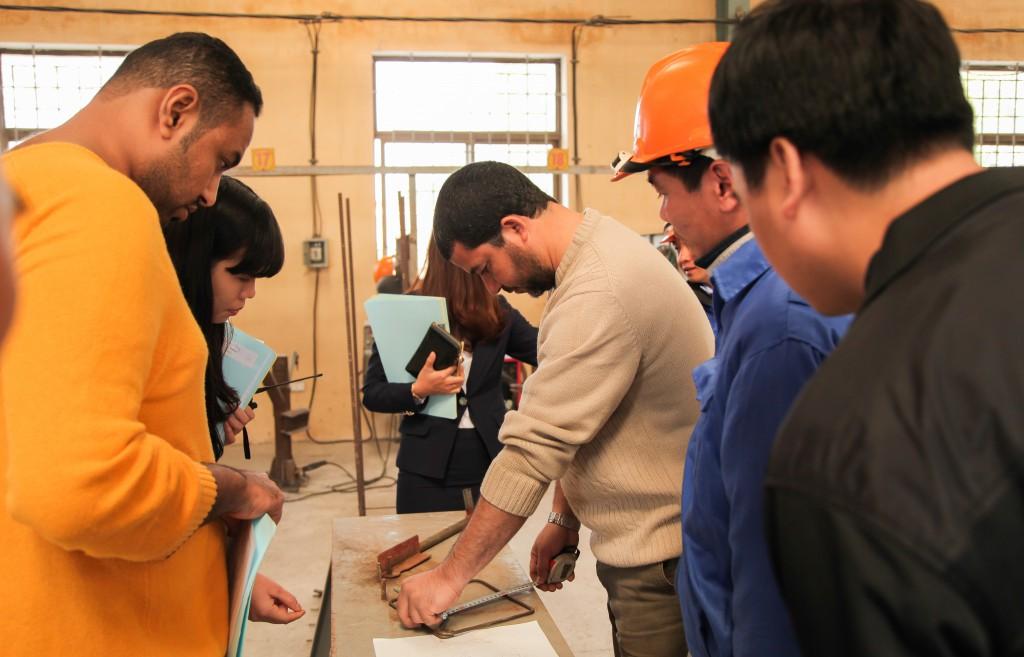 Hình ảnh thi tuyển mộc,sắt, hàn, xây trát ốp lát cho A.S.Alsayed 14