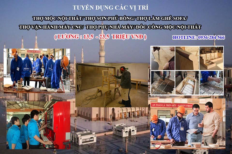 Tuyển đơn hàng mộc nội thất đi XKLĐ Ả Rập Xê Út