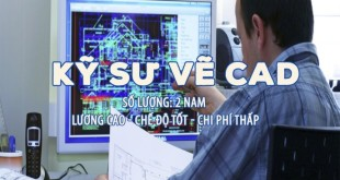 kỹ sư vẽ CAD