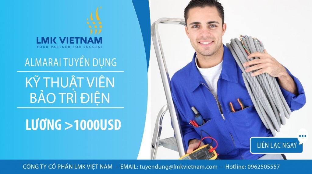 Tuyển kỹ thuật viên điện công nghiệp