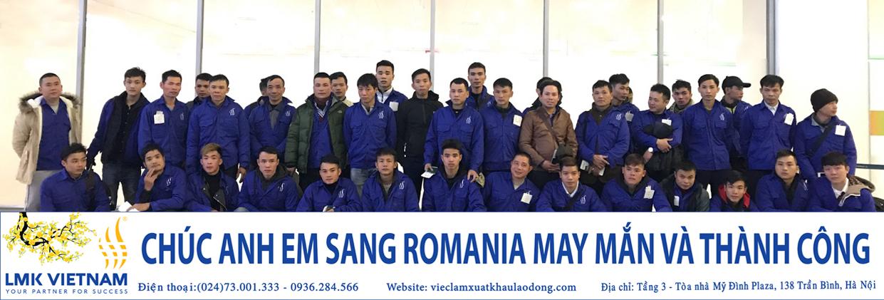 41 anh em lao động Việt Nam xuất cảnh tháng 1/2018 được chủ sử dụng Rumani đón tiếp nhiệt tình